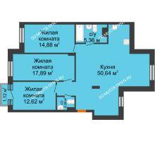 3 комнатная квартира 104,09 м², ЖК Шаляпин - планировка