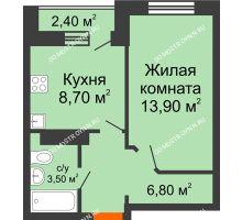 1 комнатная квартира 32,9 м² в ЖК Торпедо, дом № 1