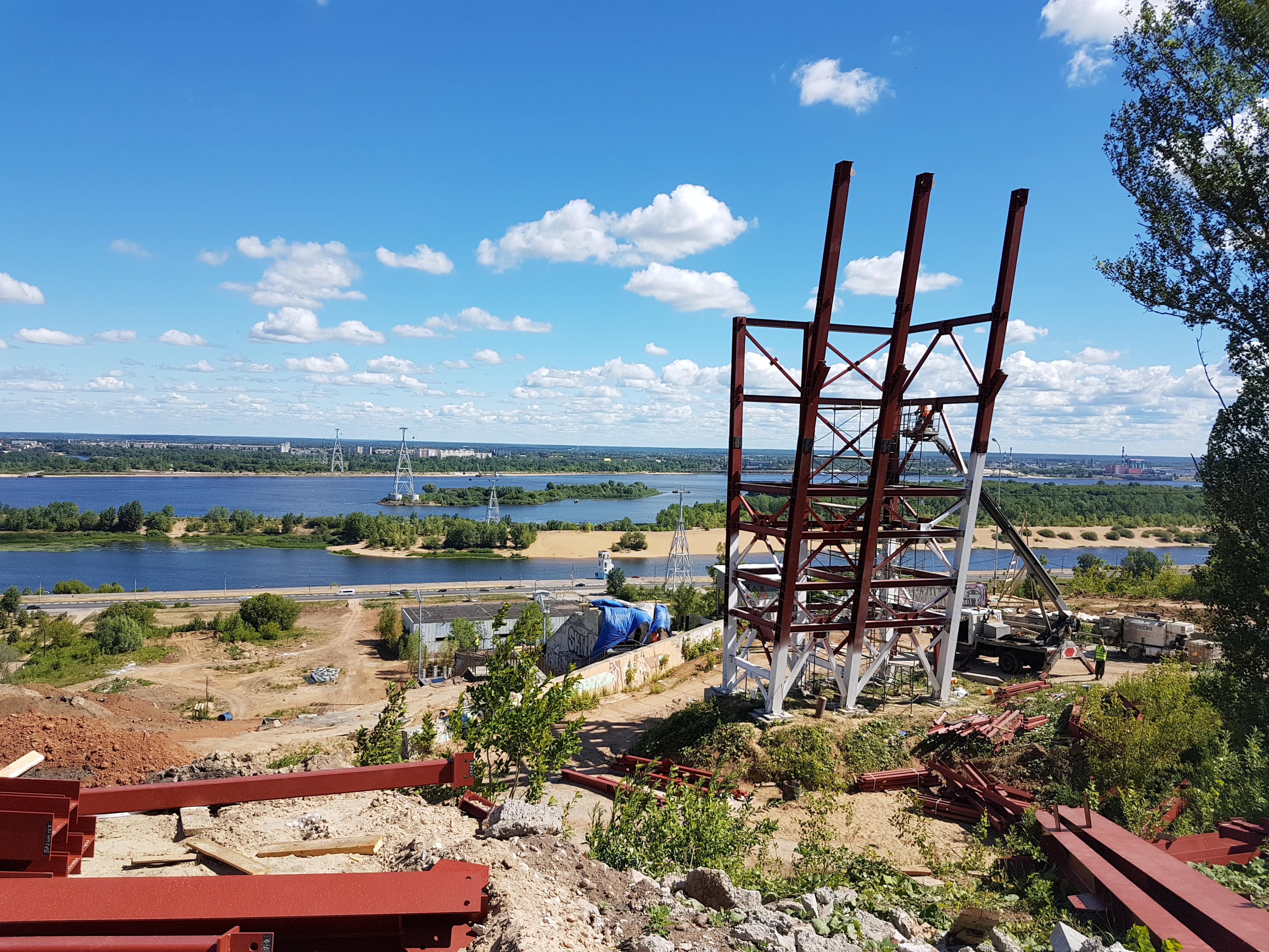 Нижегородский трамплин К-60 построен уже больше, чем наполовину - фото 1