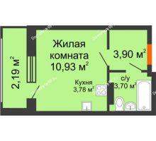 Студия 24,5 м² в ЖК Суворов-Сити, дом 1 очередь секция 6-13 - планировка