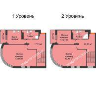 4 комнатная квартира 173,19 м², ЖК Командор - планировка