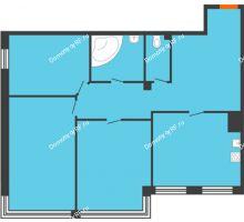 3 комнатная квартира 119,6 м², Клубный дом Green Вита (Грин Вита) - планировка