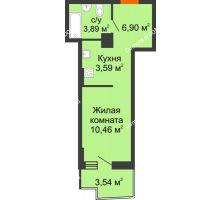 Студия 25,67 м² в ЖК Город у реки, дом Литер 8 - планировка