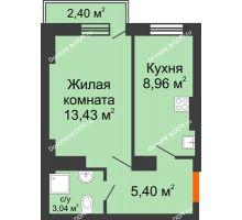 1 комнатная квартира 31,12 м² в ЖК Мечников, дом ул. Таврическая, 4 - планировка