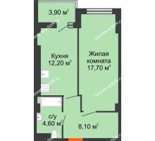 1 комнатная квартира 44,1 м² - ЖК Уютный дом на Мечникова