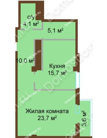 1 комнатная квартира 61,4 м² - ЖК Бояр Палас