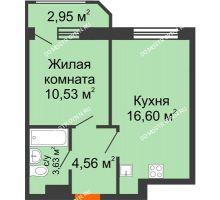 1 комнатная квартира 38,27 м² в ЖК Город времени, дом № 18