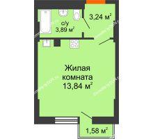 Студия 26,47 м², ЖК West Side (Вест Сайд) - планировка