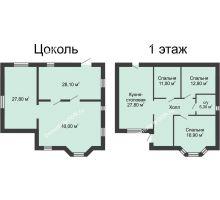 6 комнатная квартира 187 м² в КП Всевеликого Войска Донского, дом № 1, 187 м² - планировка