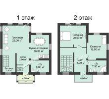 3 комнатная квартира 128,6 м² в КП Щепкин Союз, дом Тип 5, 128.6 м² - планировка