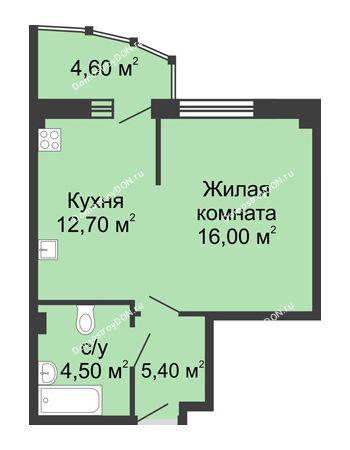 1 комнатная квартира 43 м² в ЖК Мега, дом № 2